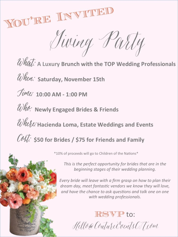 Giving Party Invite