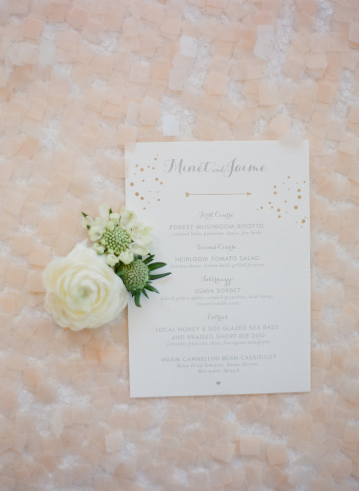Acres of Hope Photography Minet Jaime Wedding Menu Couture Events