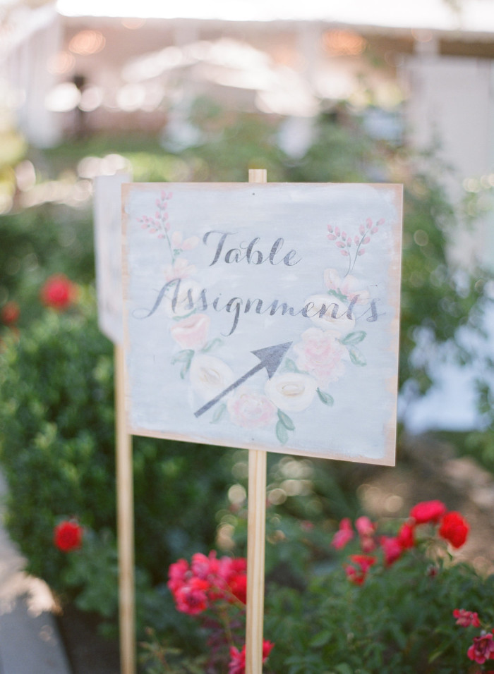 table assignments minet jaime wedding inn at rancho santa fe couture events