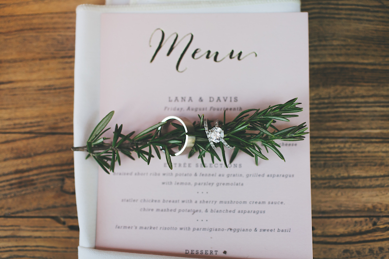 Teale Photography Lana Davis Menu Couture Events