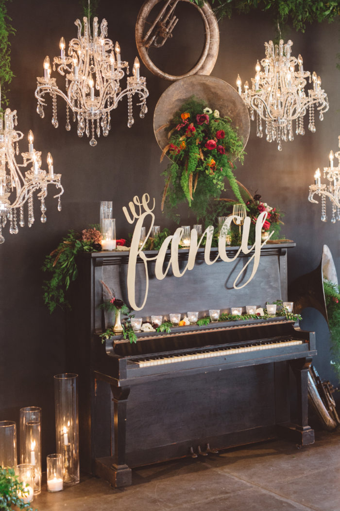 Anna Delores Photography Tassels Tastemakers Fancy Chandeliers Instrument Florals Couture Events