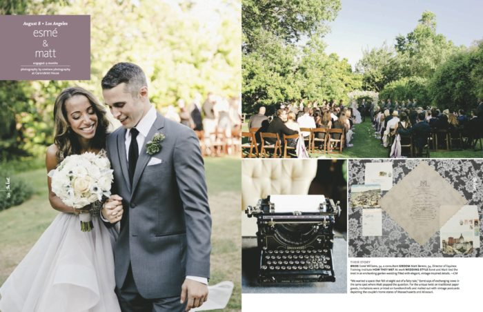 OneLove Photography Esme Matt Ceremony The Knot California Couture Events