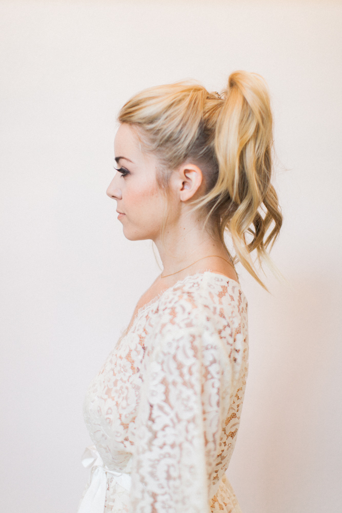 Engaged party Look Hair Updo Ponytail