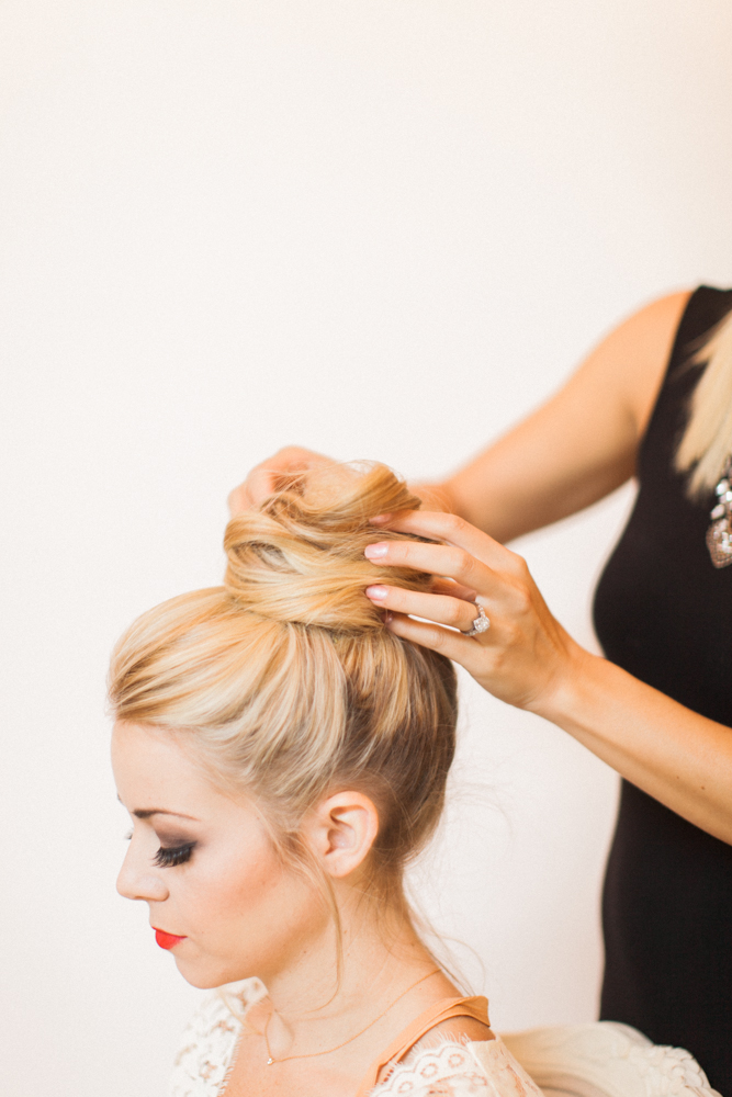 Engagement Party Look Hair Tips Bun