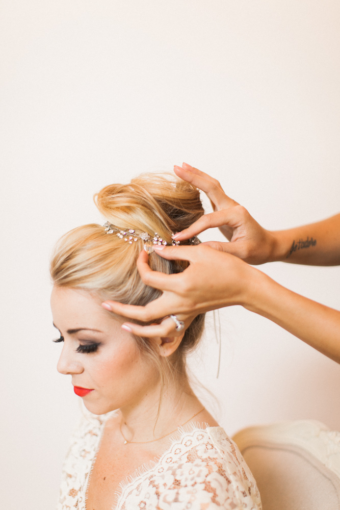 Engagement Party Look Hair Updo Hair Piece