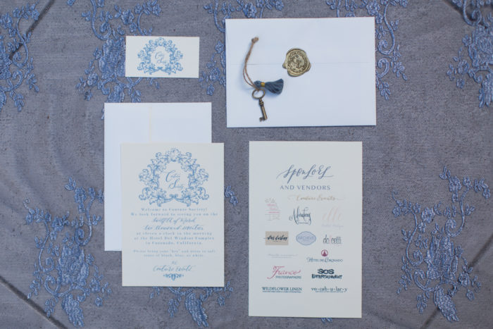 couture society brunch invitation suite