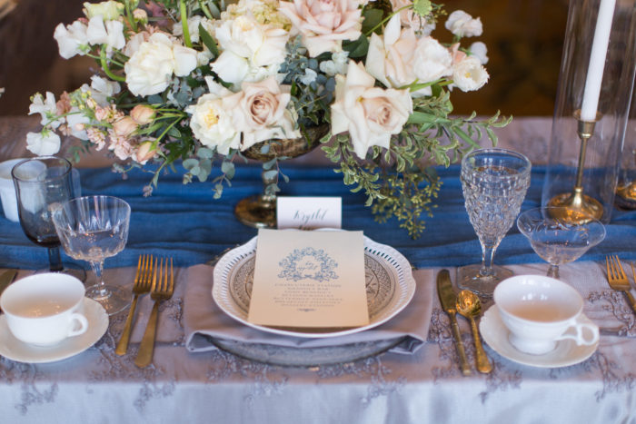 couture society brunch table setting menu