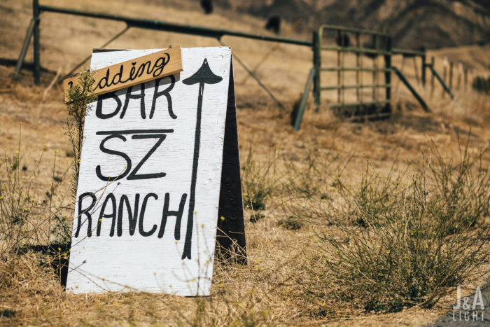 sonia jack JA Light bar sz ranch wedding couture events welcome signage